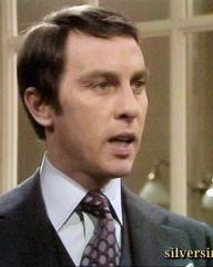 Anthony Valentine as James Eliot is challenged by the clerk in Justice.  Season 3, episode Trial for Murder