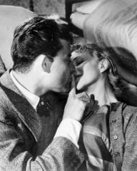 Gérard Philipe (as Andre Ripois) and Joan Greenwood (as Norah) in a photograph from Knave of Hearts (1954) (3)