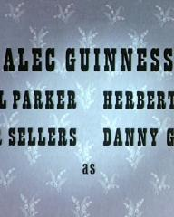 Main title from The Ladykillers (1955) (4).  Alec Guiness Cecil Parker, Herbert Lom, Peter Sellers, Danny Green as