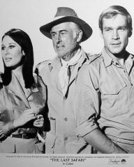 Gabriella Licudi (as Grant), Stewart Granger (as Miles Gilchrist) and Kaz Garas (as Casey) in a photograph from The Last Safari (1967) (1)