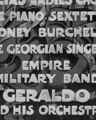 Main title from Laugh It Off (1940) (10). Sidney Burchell, The Georgian Singers, Empire Military Band, Geraldo and His Orchestra