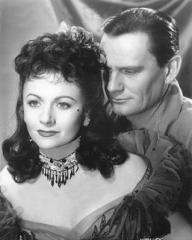 Margaret Lockwood (as Laughing Anne) and Wendell Corey (as Captain Davidson) in a photograph from Laughing Anne (1953) (14)