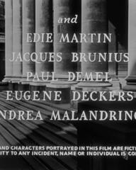 Opening credits from The Lavender Hill Mob (1951) (6). Edie Martin, Jacques B Brunius, Paul Demel, Eugene Deckers, Andreas Malandrinos