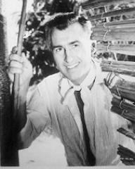 Stewart Granger (as Sir Philip Ashlow) in a photograph from The Little Hut (1957) (1)
