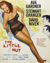 Ava Gardner (as Lady Susan Ashlow) in a poster for The Little Hut (1957) (1)