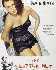 Ava Gardner (as Lady Susan Ashlow) in a poster for The Little Hut (1957) (2)