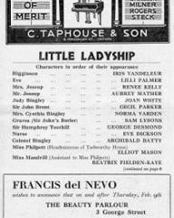 Programme from Little Ladyship (1939) at the New Theatre, Oxford (2)