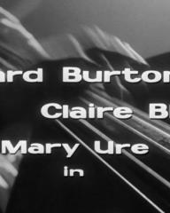 Main title from Look Back in Anger (1959) (3). Richard Burton, Claire Bloom, Mary Ure
