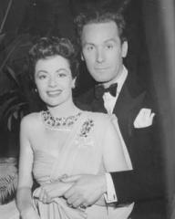 Margaret Lockwood and Griffith Jones pose for the camera during a break from filming Look Before You Love.