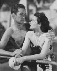 Griffith Jones (as Charles Kent) and Margaret Lockwood (as Ann Markham) in a photograph from Look Before You Love (1948) (5)