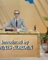 Denis Norden (as Himself – Presenter) in a screenshot from the 20th July, 1982 episode of Looks Familiar (1970-87)