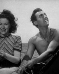 Screenshot from Love Story with Margaret Lockwood and Stewart Granger