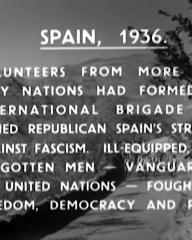Screenshot from The Man from Morocco (1945) (1). Spain, 1936. Volunteers from more than fifty nations had formed the International Brigade and joined republican Spain's struggle against fascism. Ill-equipped, these forgotten men – vanguard of the United Nations – fought for freedom, democracy and peace