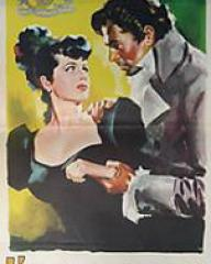 Margaret Lockwood (as Hesther Shaw) and James Mason (as Marquis of Rohan) in an Italian poster for The Man in Grey (1943) (1)