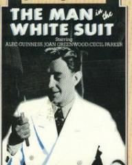 Alec Guinness (as Sidney Stratton) in a video cover from The Man in the White Suit (1951) (4)