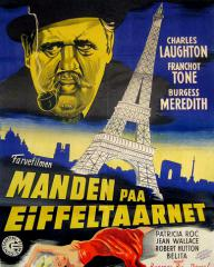 Danish poster for The Man on the Eiffel Tower (1949) (1)