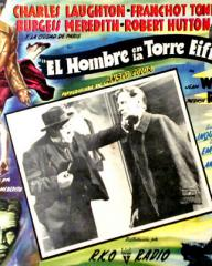 Mexican lobby card from The Man on the Eiffel Tower (1949) (1)