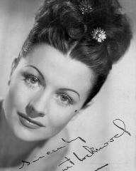 """Margaret Lockwood promotional headshot for Jassy, c. 1947, autographed """"Sincerely"""" by the actress"""