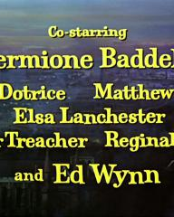 Main title from Mary Poppins (1964) (8)  Co-starring Hermione Baddeley Karen Dotrice, Matthew Garber, Elsa Lanchester, Arthur Treacher, Reginald Owen, Ed Wynn