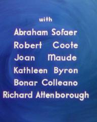 Main title from A Matter of Life and Death (1946) (8).  Abraham Sofaer Robert Coote, Joan Maude, Kathleen Byron, Bonar Colleano, Richard Attenborough