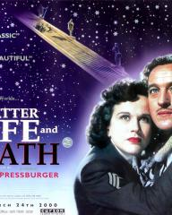 Kim Hunter (as June) and David Niven (as Peter D. Carter) in a poster for A Matter of Life and Death (1946) (1)