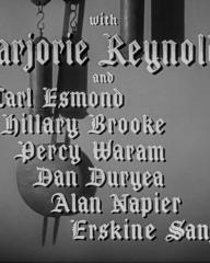 Main title from Ministry of Fear (1944) (4). With Marjorie Reynolds and Carl Esmond, Hillary Brooke, Percy Waram, Dan Duryea, Alan Napier, Erskine Sandford