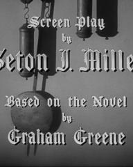 Main title from Ministry of Fear (1944) (5). Screen play by Seton I Miller. Based on the novel by Graham Greene