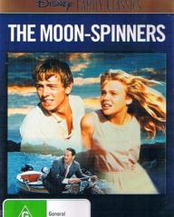 Hayley Mills (as Nikky Ferris) and Peter McEnery (as Mark Camford) in an Australian video cover from The Moon-Spinners (1964) (1)
