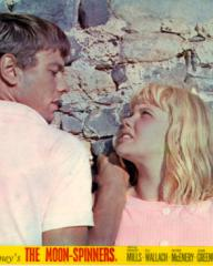 Peter McEnery (as Mark Camford) and Hayley Mills (as Nikky Ferris) in a lobby card from The Moon-Spinners (1964) (13)