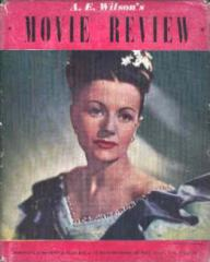 A. E. Wilson's Movie Review magazine with Margaret Lockwood in Jassy.
