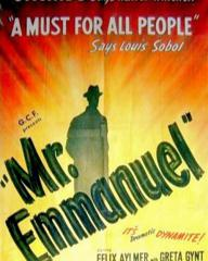 Poster from Mr Emmanuel (1944) (1). 'Orchids,' says Walter Winchell. 'A must for all people,' says Louis Sobol