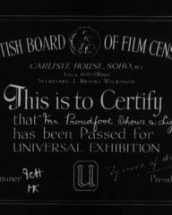 Main title from Mr Proudfoot Shows a Light (1941) (1)