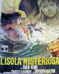 Italian poster for Mysterious Island (1961) (1)