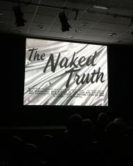 The screening of the 1957 film, The Naked Truth, at Eastbourne's Underground Theatre on 12th May, 2018