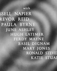 Main title from The Narrowing Circle (1956) (4).  With Russell Napier Trevor Reid, Paul Byrne, June Ashley, Hugh Latimer, Ferdy Mayne, Basil Dignam, Mary Jones, Ronnie Stevens, Katie Stuart