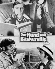 Neues Film Programm magazine with Peter Cook and  Dudley Moore in The Hound of the Baskervilles.  Issue number 7305.  (German).  Der Hund von Baskerville.