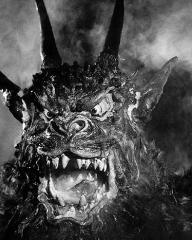 The roaring, fanged devil from Jacques Tourneur's 1957 film, Night of the Demon