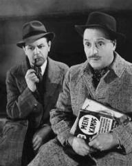 Naunton Wayne (as Caldicott) and Basil Radford (as Charters) in a photograph from Night Train to Munich (1940) (11)
