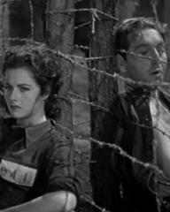 Margaret Lockwood (as Anna Bomasch) and Paul Henreid (as Karl Marsen) in a screenshot from Night Train to Munich (1940) (1)