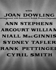 Main title from No Room at the Inn (1948) (5). With Joan Dowling, Ann Stephens, Harcourt Williams, Niall MacGinnis, Sydney Tafler, Frank Pettingell