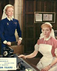 Anna Neagle (as Matron Eleanor Hammond) and Sylvia Syms (as Nurse Margaret Collier) in a lobby card from No Time for Tears (1957) (1)