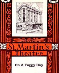 Programme from On a Foggy Day (1969) at the St Martin's Theatre, London (1)