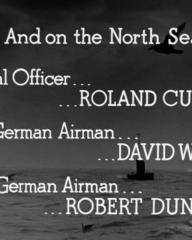Main title from One of Our Aircraft Is Missing (1942) (14). And on the North Sea