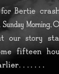 Main title from One of Our Aircraft Is Missing (1942) (22). B for Bertie crashed on Sunday morning, 0431, but our story starts some fifteen hours earlier…