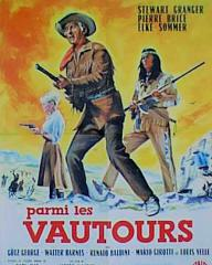 French poster for Parmi les vautours [Frontier Hellcat] (1964) (1)