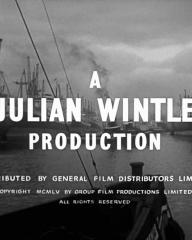 Main title from Passage Home (1955) (2).  A Julian Wintle Production.  Distributed by General Film Distributors Limited.  Copyright 1955 by Group Film Productions Limited.  All rights reserved
