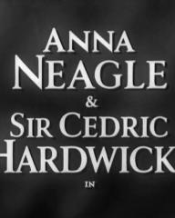 Main title from Peg of Old Drury (1935) (1).  Anna Neagle and Sir Cedric Hardwicke in
