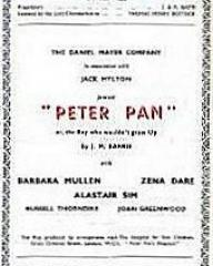 Programme from Peter Pan at the Adelphi Theatre, London