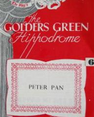 Programme from Peter Pan at the Golders Green Hippodrome, London