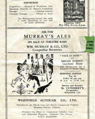 Programme from Peter Pan at the King's Theatre, Edinburgh, 1941 (2)